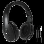 (1008355) Гарнитура CROWN CMH-209T black (Закрытого типа с микрофоном на проводе, складной корпус, регулируемое оголовье, длина кабеля 120см, кнопка приёма вызова, штекер jack 3.5мм 4pin, сопротивление 32Ом, мощность 20мВт, чувствительность 100 Дб, ч