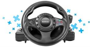 (1019340) Руль Defender Forsage Drift GT 12кноп. (с педалями) черный (плохая упаковка)