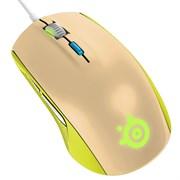 (1008457) Мышь Steelseries Rival 100 Gaia зеленый/бежевый оптическая (4000dpi) USB игровая (5but)