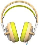 (1008446) Наушники с микрофоном Steelseries Siberia 200 Gaia Green зеленый/бежевый 1.8м мониторы (51137)