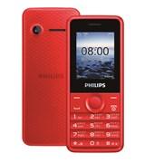 """(1008588) Мобильный телефон Philips E103 Xenium красный моноблок 2Sim 1.77"""" 128x160 0.3Mpix BT"""