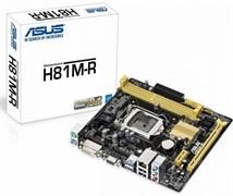 (1008584) Материнская плата Asus H81M-R/C/SI Soc-1150 Intel H81 2xDDR3 mATX AC`97 8ch(7.1) GbLAN+VGA+DVI