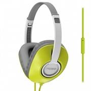 (1008623) Гарнитура KOSS UR23iG Green {20-20000Гц, сопротивл.34Ом, чувствит.94дБ, плоский шнур 1,2 м с микрофоном, цвет зеленый}