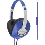 (1008621) Гарнитура KOSS UR23iB Blue {20-20000Гц, сопротивл.34Ом, чувствит.94дБ, плоский шнур 1,2 м с микрофоном, цвет синий}