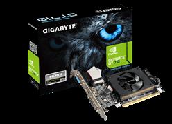 (1008651) Видеокарта Gigabyte PCI-E GV-N710D3-1GL NV GT710 1024Mb 64b DDR3 954/1800 DVIx1/HDMIx1/CRTx1/HDCP Re