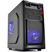 (176619) Корпус Deepcool SMARTER LED, без БП, MicroATX/Mini-ITX (2x120mm Blue LED Fun)