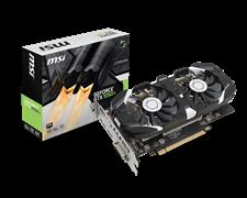 (1008676) Видеокарта MSI PCI-E GTX 1050 Ti 4GT OC NV GTX1050TI 4096Mb 128b GDDR5 1341/7000 DVIx1/HDMIx1/DPx1/H