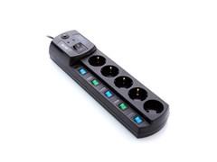 (1008722) Сетевой фильтр Most EHV 2м (5 розеток) черный (коробка)