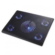 """(1008718) Подставка для ноутбука CROWN CMLC-205T (Для ноутбоков до 17"""" , Размер: 390*290*25мм;, Размер вентилятора: 70мм *4шт., 140мм *1шт; LED подсветка; USB;.)"""