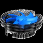 (1008714) Система охлажденеия (кулер)  для процессора CROWN CM-90 (Для Intel и AMD,TDP до 95 Ватт, коннектор 3 pin, Низкая посадка радиатора,Гидродинамический подшипник,Размер: 115*110*57 мм)