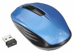 (1008765) Мышь Oklick 475MW черный/синий оптическая (1200dpi) беспроводная USB (2but)