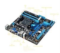 (1019015) Материнская плата Asus M5A78L-M PLUS/USB3 Soc-AM3+ AMD 760G 4xDDR3 mATX AC`97 8ch(7.1) GbLAN RAID+VGA+DVI+HDMI