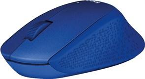 (1008783) Мышь бесшумная беспроводная Logitech Wireless Mouse M330 SILENT PLUS, Blue, [910-004910]