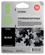 (3330993) Картридж струйный CACTUS CS-PG50 черный для принтеров CANON PIXMA MP150/  MP160/  MP170/  MP180/  MP450/  MP460; iP2200; MX300/  MX310; JX200/  JX210/  JX210p/  JX500/  JX510/  JX510P