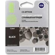 (1003723) Картридж струйный Cactus CS-EPT038 черный для Epson Stylus C43 (7ml)