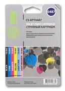 (3331213) Комплект картриджей Cactus CS-EPT0487 для принтеров Epson Stylus Photo R200/  R220/  R300/  R320/  R340/  RX500/  RX600/  RX620/  RX640, 6 картриджей по 14,4мл