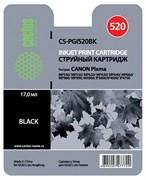(3330029)  Картридж струйный Cactus CS-PGI520BK черный для принтеров CANON PIXMA MP540/  MP550/  MP620/  MP630/  MP640/  MP660/  MP980/  MP990; MX860; iP3600/ iP4600/  iP4700, 344 стр.