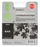 (3331276) Картридж струйный CACTUS CS-PG512 черный для принтеров Canon PIXMA MP240/  MP250/ MP260/  MP270/  MP480/  MP490/  MP492/ MX320/  MX330,  15 мл