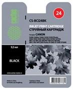 (3330014) Картридж струйный Cactus CS-BCI24BK черный для принтеров CANON S200/  S200x/  S300/  S330/  S330 Photo; i250/  i320/  i350/  i450/  i455/  i470D/  i475D; MP110/  MP130/  MP360/  MP370/  MP39