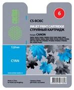 (3330018) Картридж струйный Cactus CS-BCI6C голубой для принтеров CANON S800/  S820/  S900/  S9000; i550/  i560/  i860/  i865/  i905D/  i950S/  i960x/  i965/  i990/  i9100/  i9950; JX500; MP750/  MP760