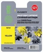 (3330024)  Картридж струйный Cactus CS-CLI521Y желтый для принтеров CANON PIXMA MP540/  MP550/  MP620/  MP630/  MP640/  MP660/  MP980/  MP990; iP3600/  iP4600/  iP4700; MX860, 446 стр., 9