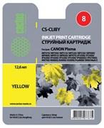 (3330028) Картридж струйный Cactus CS-CLI8Y желтый для принтеров CANON PIXMA MP470/  MP500/  MP510/  MP520/  MP530/  MP600/  MP800/  MP810/  MP830/  MP970; iP3300/  iP3500/  iP4200/  iP4300/  iP5200/