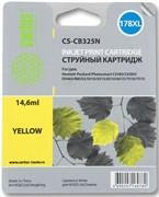 (1001520) Картридж струйный Cactus CS-CB325N желтый для №178XL HP PhotoSmart B8553/ C5383/ C6383/ D5463 (14,6ml)