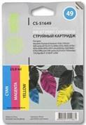 (1002406) Картридж струйный струйный Cactus CS-51649 №49 цветной для HP 350c/350cbi/600/610c/615c/640c (350стр.)