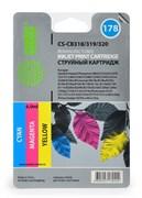(1002071) Комплект цветных картриджей Cactus №178 для HP PhotoSmart B8553/C5383/C6383