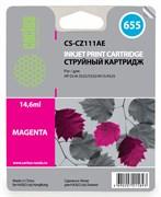 (3331442) Картридж CACTUS № 655 (пурпурный) для принтеров HP DJ IA 3525/ 5525/ 4515/ 4525