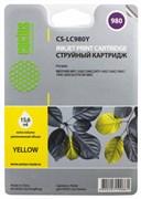 (1005923) Картридж струйный Cactus CS-LC980Y желтый для Brother DCP-145C/165C/MFC-250C/290C (16мл)