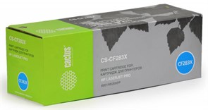 (120205) Картридж лазерный Cactus CS-CF283X черный (2200стр.) для HP LJ Pro M225dn/M201/M202