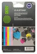 (1001549) Комплект перезаправляемых картриджей CACTUS CS-R-EPT0487 для Epson Stylus Photo R200/ R220/ R300