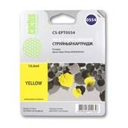 (1002397) Картридж струйный Cactus CS-EPT0554 желтый для Epson Stylus RX520/Stylus Photo R240 (350стр.)
