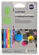 (1001571) Комплект картриджей Cactus CS-EPT0807 черный/ желтый/ голубой/ пурпурный/ светло-голубой/ светло-пурпурный