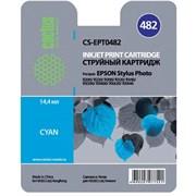 (3330225) Картридж струйный CACTUS CS-EPT0482 голубой для принтеров Epson Stylus Photo R200/  R220/  R300/  R320/  R340/  RX500/  RX600/  RX620/  RX640, 14.4 мл