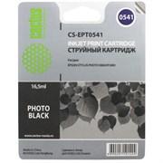 (3330357)  Картридж струйный CACTUS CS-EPT0541 черный для принтеров Epson Stylus Photo R800/  R1800, 13 мл