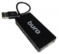 (1008908) Разветвитель USB 2.0 Buro BU-HUB4-U2.0-Slim 4порт. черный