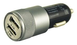 (1008902) Автомобильное зарядное устройство Buro TJ-189 2xUSB 2.1A+1A универсальное черный