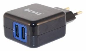 (1008901) Сетевое зар./устр. Buro TJ-134b 2.1A+1A универсальное черный