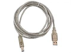 (1008932) Кабель USB 2.0 (AM) -> B type (BM) VCOM VUS6900-1.8MTP прозрачная изоляция