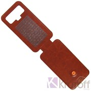 """(1008947) Чехол-флип Krutoff для смартфонов 4,5""""-5"""" с вырезом под камеру, коричневый"""