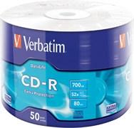 (1009001) Диск CD-R Verbatim 700Mb 52x bulk (50шт) (43787)