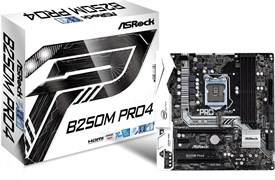 (1009078) Материнская плата Asrock B250M PRO4 Soc-1151 Intel B250 4xDDR4 mATX AC`97 8ch(7.1) GbLAN+VGA+DVI+HDM