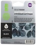 (1009089) Картридж струйный Cactus CS-LC1000BK черный для Brother DCP 130C/330С/MFC-240C/5460CN (22.6мл)