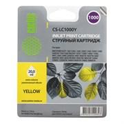 (1009092) Картридж струйный Cactus CS-LC1000Y желтый для Brother DCP 130C/330С/MFC-240C/5460CN (20мл)