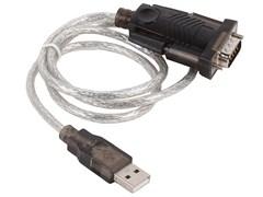 (1009147)  Переходник USB 2.0 -> COM (RS-232)  Orient USS-101N18, (chipset Prolific PL2303HXD) 1.8м, крепеж разъема - винты, поддержка Windows 8.x/10