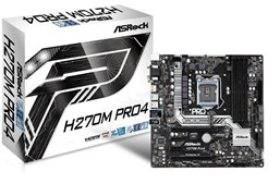 (1009166) Материнская плата Asrock H270M PRO4 Soc-1151 Intel H270 4xDDR4 mATX AC`97 8ch(7.1) GbLAN RAID+DVI+HD
