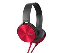 (1009160) Гарнитура накладная Sony MDRXB450APR.E 1.2м красный проводные
