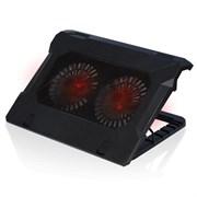 "(1009229) Подставка для ноутбука CROWN CMLC-530T  (Для ноутбуков17"" ;Размер: 395*305*54мм;Размер вентилятора: D140*20мм *2шт.;LED подсветка красная; USB)"